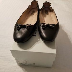 LK Bennett Black Leather Thea Ballet Flat (38.5)